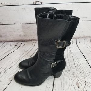 EARTH BOOTS SUEDE & LEATHER BLACK with buckle 8